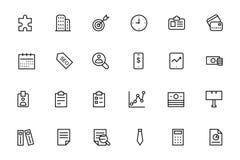 Ligne icônes 2 de vecteur d'affaires et de finances Photo libre de droits