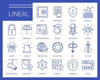 Ligne icônes de vecteur dans un style moderne illustration stock