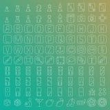 ligne icônes de 100 vecteurs réglées Photographie stock