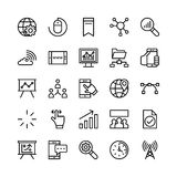 Ligne icônes 1 de vente de Digital de vecteur Photo libre de droits