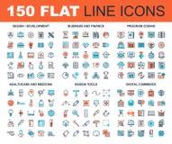 Ligne icônes de Web illustration stock