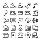 Ligne icônes 5 de web design de vecteur Photographie stock