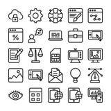Ligne icônes 1 de web design de vecteur Photo stock