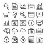 Ligne icônes de web design de vecteur Photos libres de droits