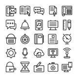 Ligne icônes 2 de web design de vecteur Images stock