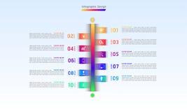 Ligne illustration infographic eps10 de vecteur d'étapes de la conception 10