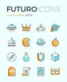Ligne indépendante icônes de futuro de jeu illustration libre de droits