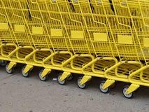 Ligne jaune Photo libre de droits