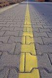 Ligne jaune Photo stock