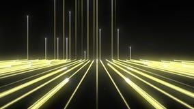 Ligne jaune Up_1920_25f_13sec_Alpha de technologie de fond M banque de vidéos