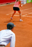 Ligne juge de tennis Photos stock