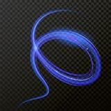 Ligne légère effet bleu au néon de remous Trace de fusée du feu de lumière de cercle de scintillement de vecteur illustration libre de droits
