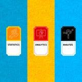 Ligne labels de paquet d'Analytics Photos libres de droits