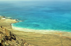 Ligne Lanzarote de côte Photos libres de droits