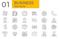 Ligne liée au marché ensemble de vecteur d'icônes photos libres de droits