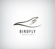 Ligne logo de vecteur d'oiseau, abstrait illustration libre de droits