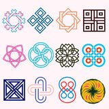 Ligne Logo Set bas Photo libre de droits