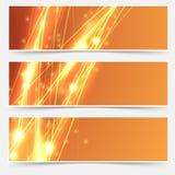 Ligne lumineuse ensemble de vitesse de bruissement d'en-tête de résumé Photo stock
