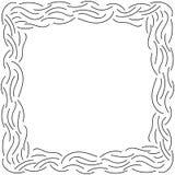 Ligne mince bouclée cadre de griffonnage de résumé d'isolement sur le fond blanc illustration de vecteur