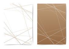 Ligne mince calibre de couverture géométrique de dossier de modèle illustration libre de droits