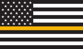 Ligne mince drapeau d'or de vecteur de détresse Photo stock
