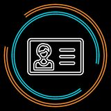 Ligne mince icône de carte d'identité simple de vecteur illustration de vecteur
