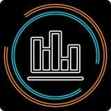 Ligne mince icône de diagramme simple de vecteur illustration stock