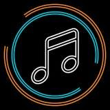 Ligne mince icône de musique simple de vecteur illustration de vecteur