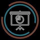 Ligne mince icône de présentation simple de vecteur illustration stock