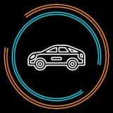 Ligne mince icône de voiture simple de vecteur illustration de vecteur