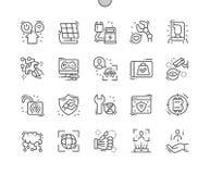 Ligne mince icônes de vecteur parfait de pixel Bien-ouvrée future par industrie illustration de vecteur