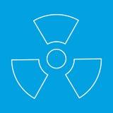 Ligne mince icône de rayonnement Image libre de droits