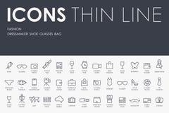 Ligne mince icônes de mode Image stock