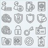 Ligne mince icônes de vecteur réglées Images libres de droits