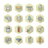 Ligne mince icônes pour Divers Photo stock