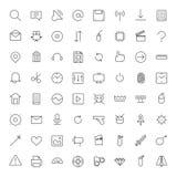 Ligne mince icônes pour l'interface Photo stock