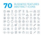 70 ligne mince icônes universelles d'affaires Photos stock