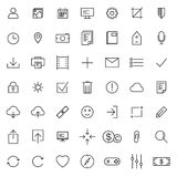Ligne mince icônes universelles réglées Photographie stock