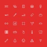 Ligne mince réglée icônes Interface utilisateurs de collection de vecteur Image stock
