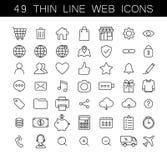 Ligne mince universelle icônes de Web réglées Photo stock
