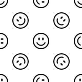 Ligne modèle de sourire d'icône Image libre de droits