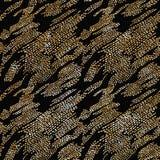 Ligne modèle de tiret de griffonnage d'or briller illustration libre de droits