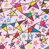 Ligne modèle sans couture d'étoile de couleur gratuite Photographie stock libre de droits