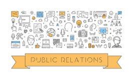 Ligne moderne bannière de Web pour des relations publiques Photos stock