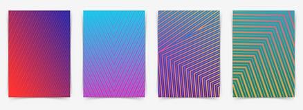 Ligne moderne lumineuse collection géométrique de dossier de modèle Image stock