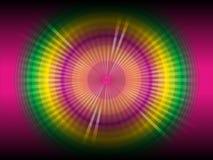 Ligne multicolore abstraite fond rougeoyant Image libre de droits