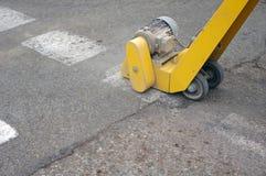 Ligne nettoyage d'asphalte Image stock