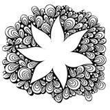 Ligne noire abstraite fleur Photos stock