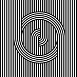 Ligne noire et blanche abstraite fond de rayure Photo libre de droits
