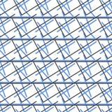 Ligne noire et bleue fond de croix de mélange de modèle Images libres de droits